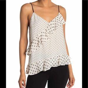 🔥🔥DVF Lara Multi Clip Dot asymmetrical camisole.